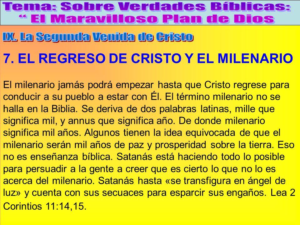 El Regreso De Cristo Y El Milenario A