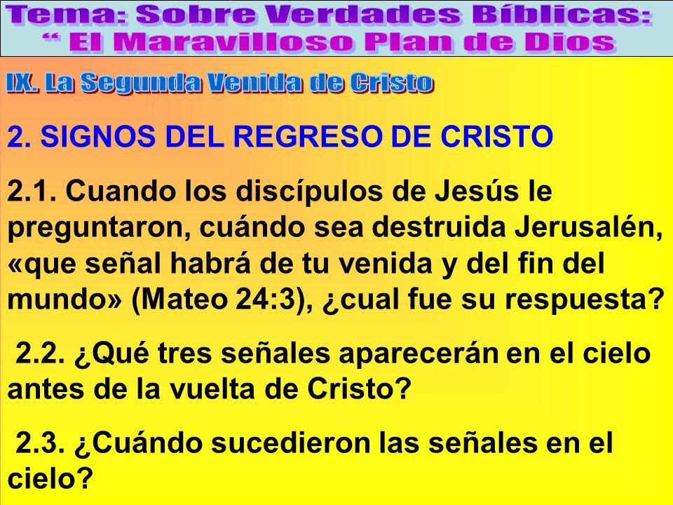 Signos Del Regreso De Cristo