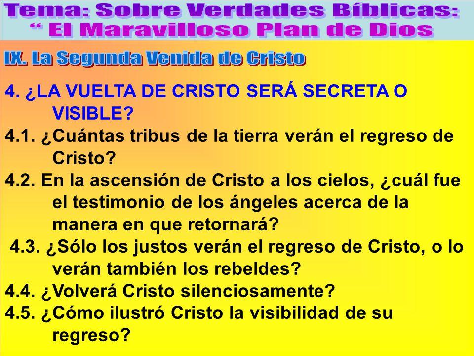 ¿La Vuelta De Cristo Será Secreta O Visible