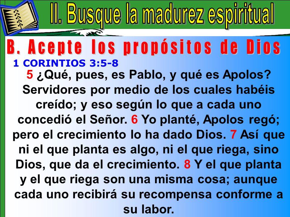 Busque La Madurez Espiritual B
