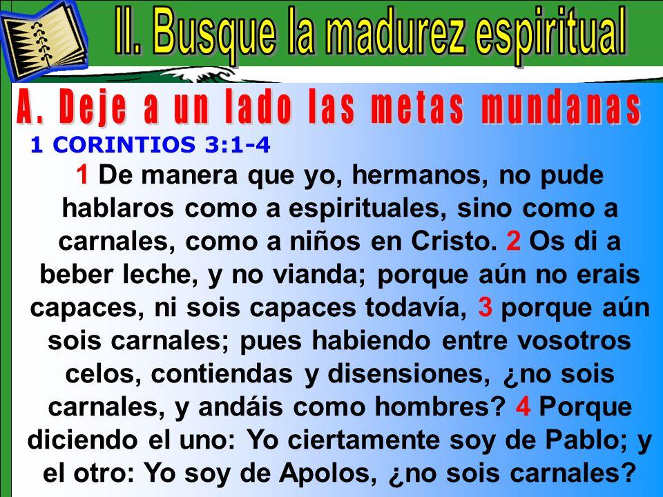 Busque La Madurez Espiritual A
