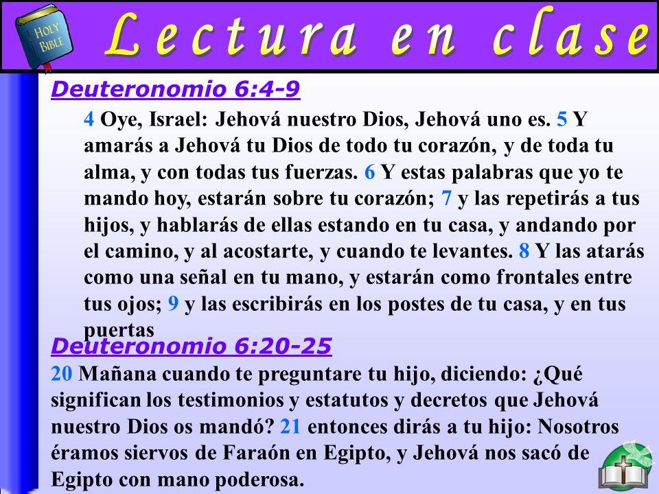 Lectura En Clase A Lectura en clase Deuteronomio 6:4-9