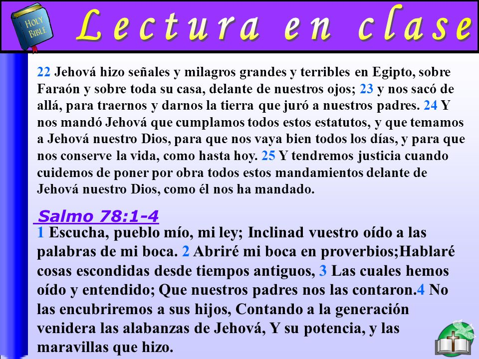Lectura En Clase B Lectura en clase Salmo 78:1-4