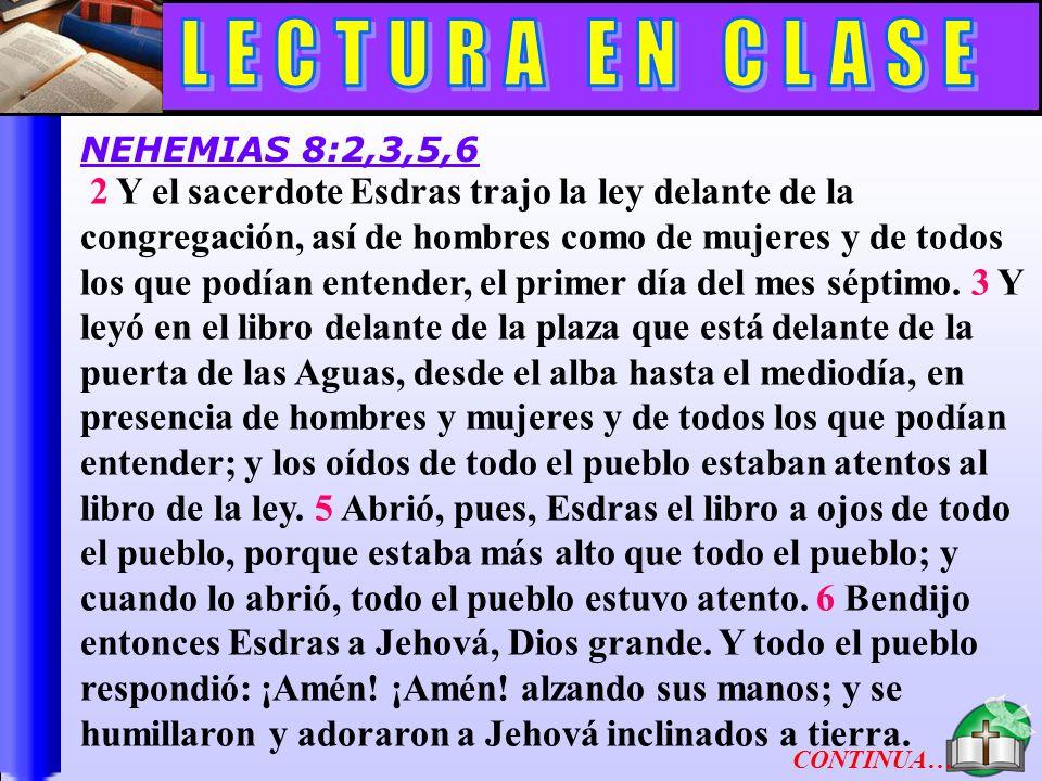 Lectura En Clase A LECTURA EN CLASE
