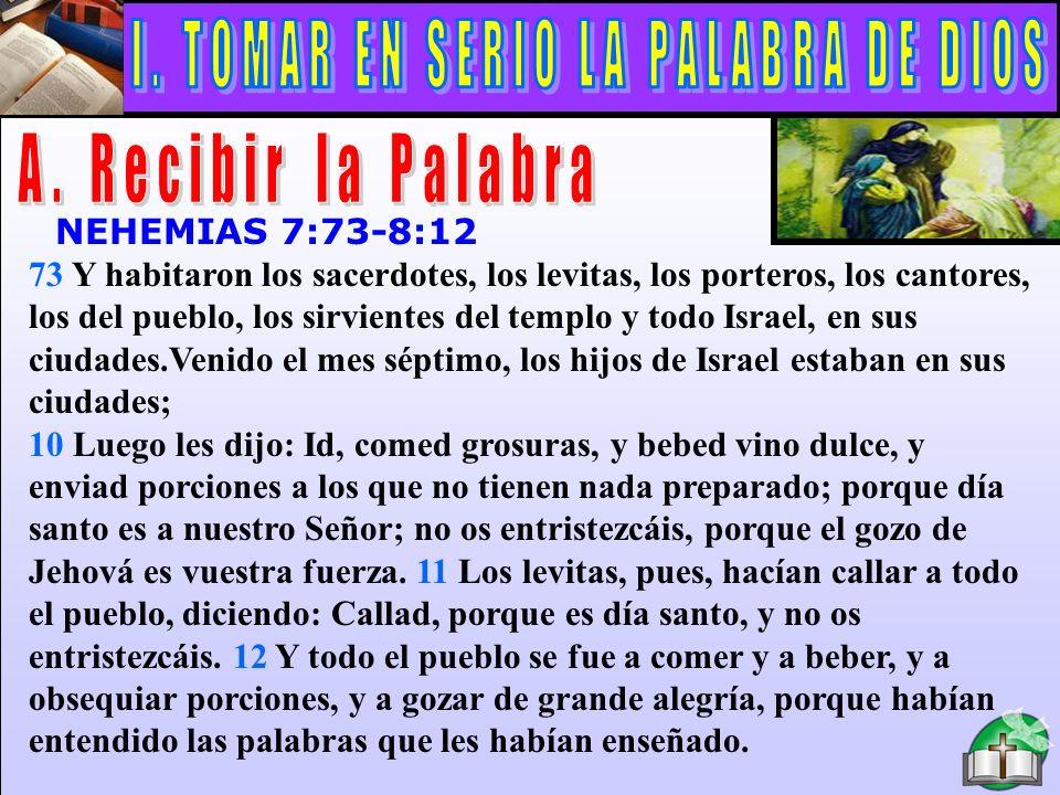 I. TOMAR EN SERIO LA PALABRA DE DIOS