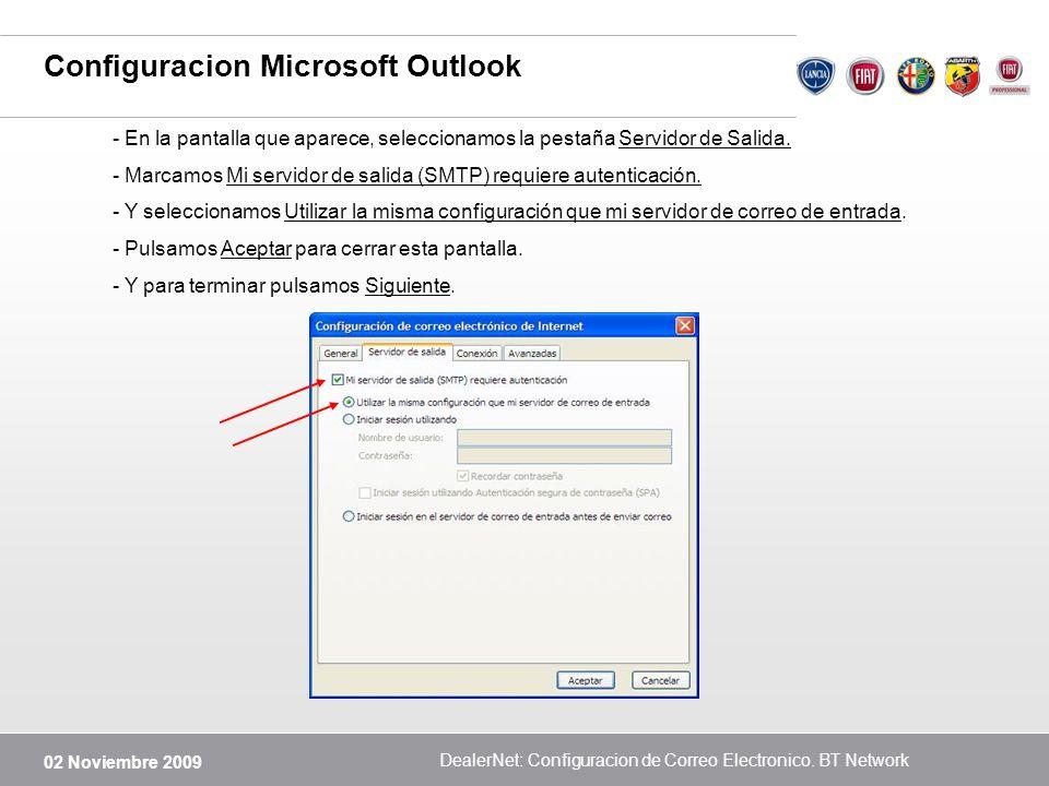 Configuracion Microsoft Outlook