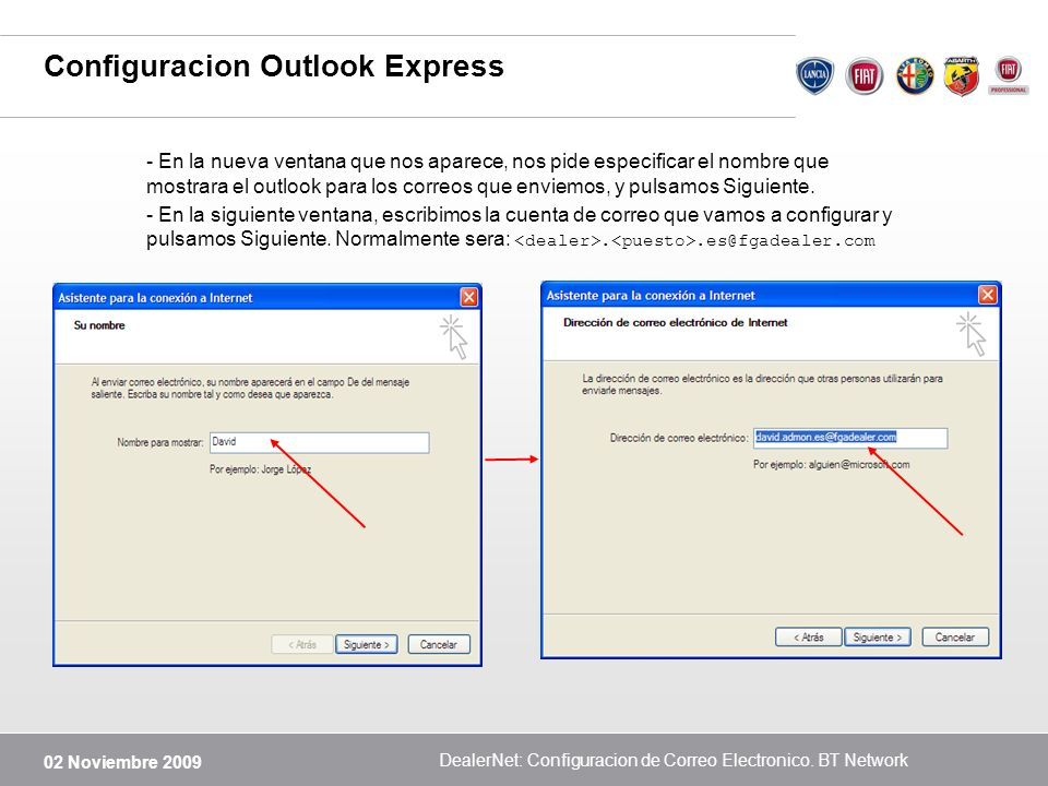 Configuracion Outlook Express
