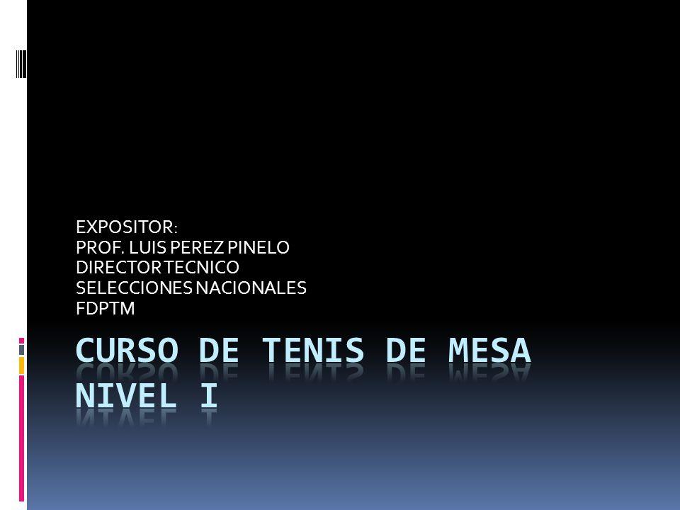 CURSO DE TENIS DE MESA NIVEL I