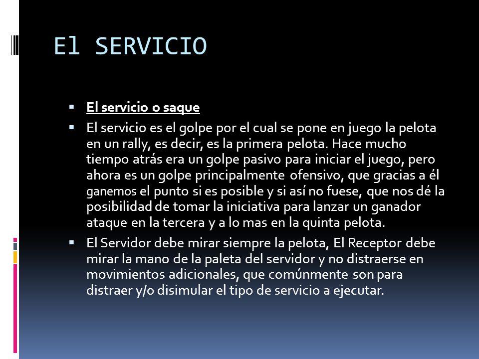 El SERVICIO El servicio o saque