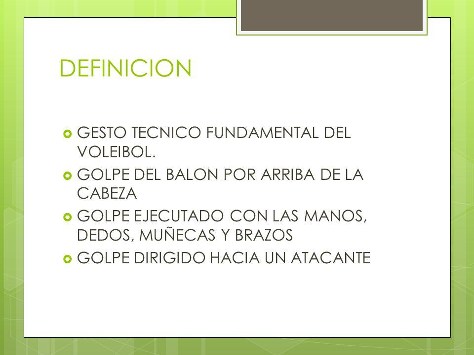 DEFINICION GESTO TECNICO FUNDAMENTAL DEL VOLEIBOL.