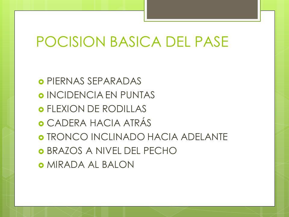 POCISION BASICA DEL PASE