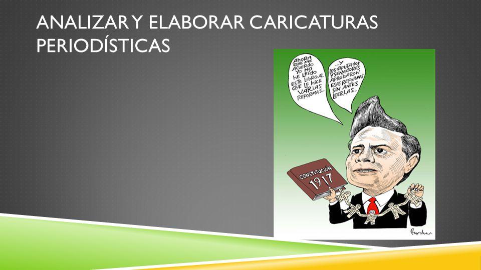 Analizar y elaborar caricaturas periodísticas