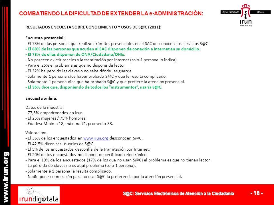 COMBATIENDO LA DIFICULTAD DE EXTENDER LA e-ADMINISTRACIÓN: