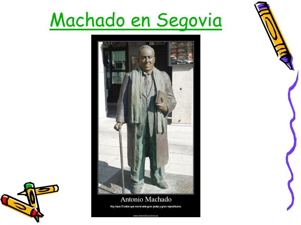 Machado en Segovia
