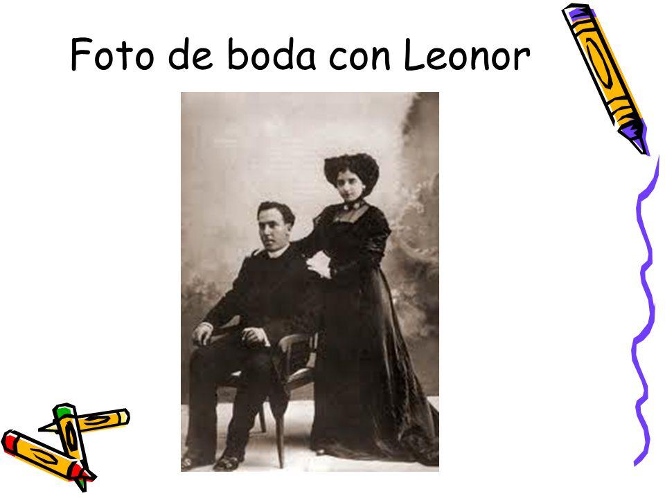 Foto de boda con Leonor