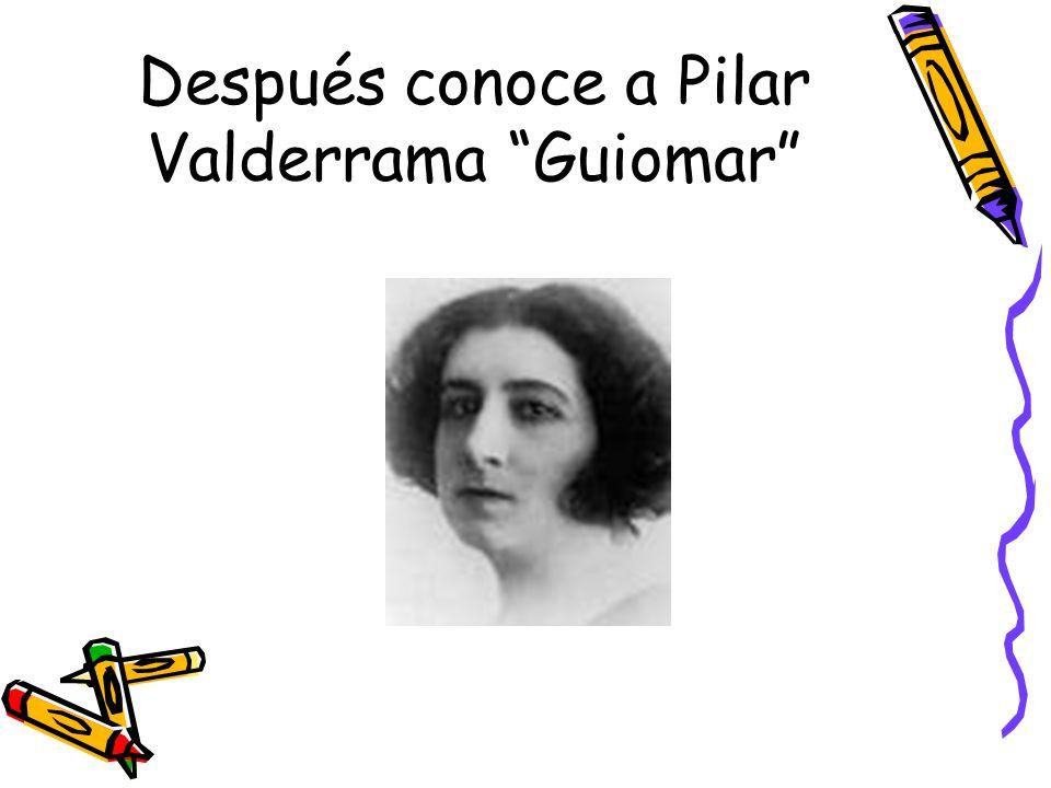 Después conoce a Pilar Valderrama Guiomar