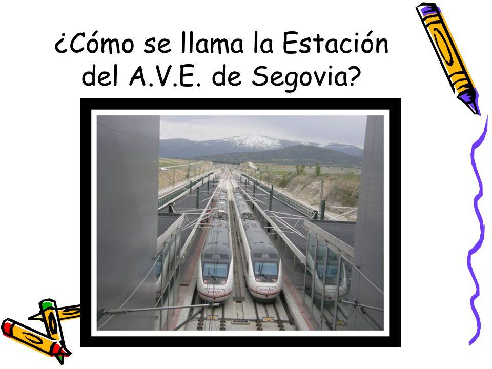 ¿Cómo se llama la Estación del A.V.E. de Segovia