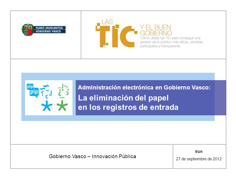 Gobierno Vasco – Innovación Pública