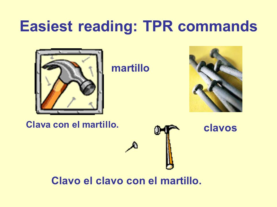 Easiest reading: TPR commands