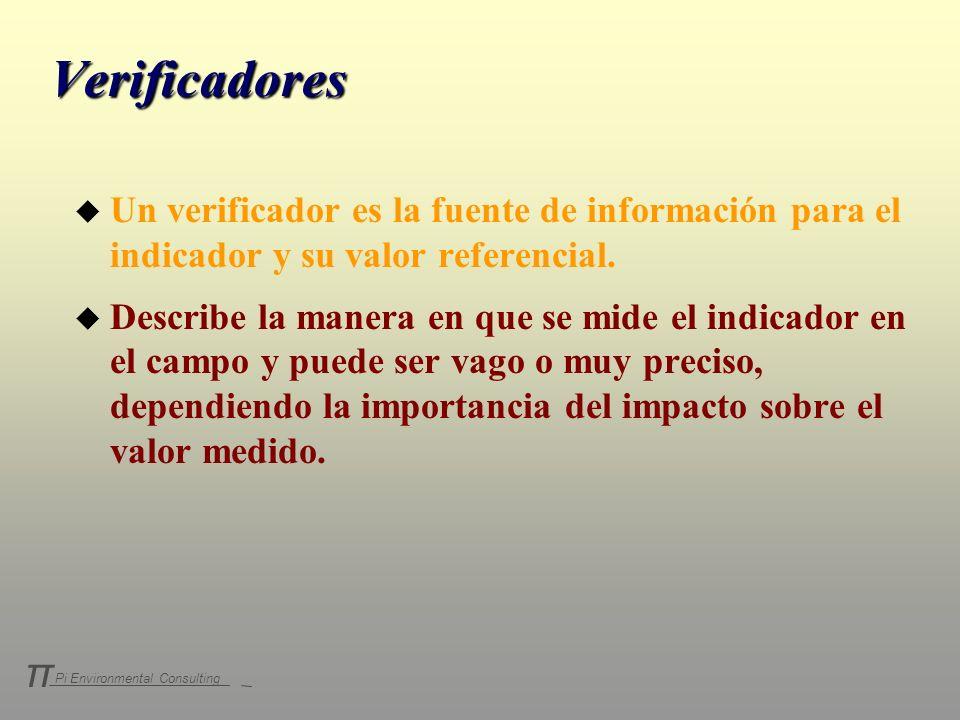 Verificadores Un verificador es la fuente de información para el indicador y su valor referencial.