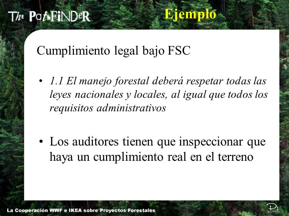 Ejemplo Cumplimiento legal bajo FSC
