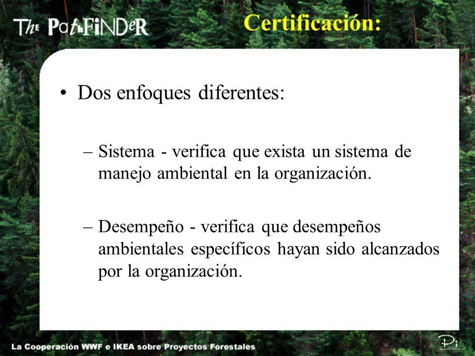 Certificación: Dos enfoques diferentes: