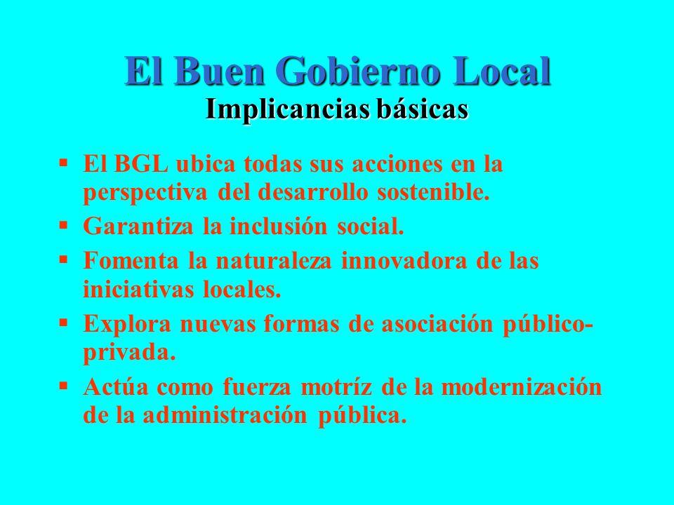 El Buen Gobierno Local Implicancias básicas