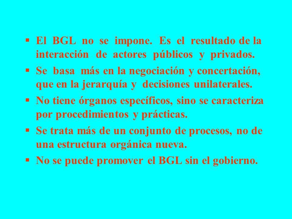 El BGL no se impone. Es el resultado de la interacción de actores públicos y privados.