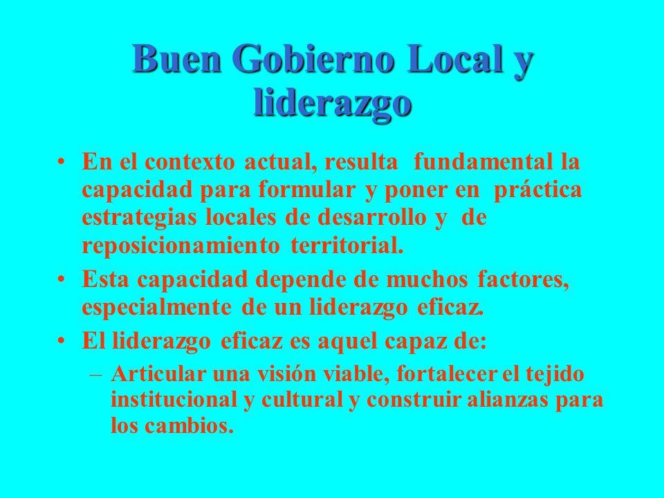 Buen Gobierno Local y liderazgo