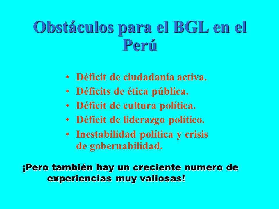 Obstáculos para el BGL en el Perú