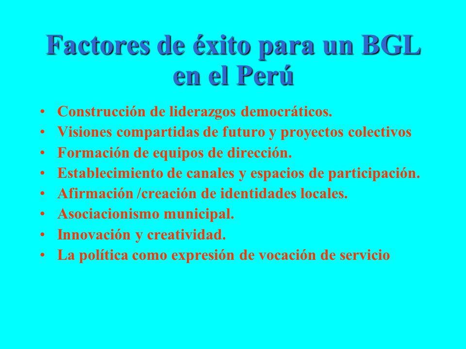 Factores de éxito para un BGL en el Perú
