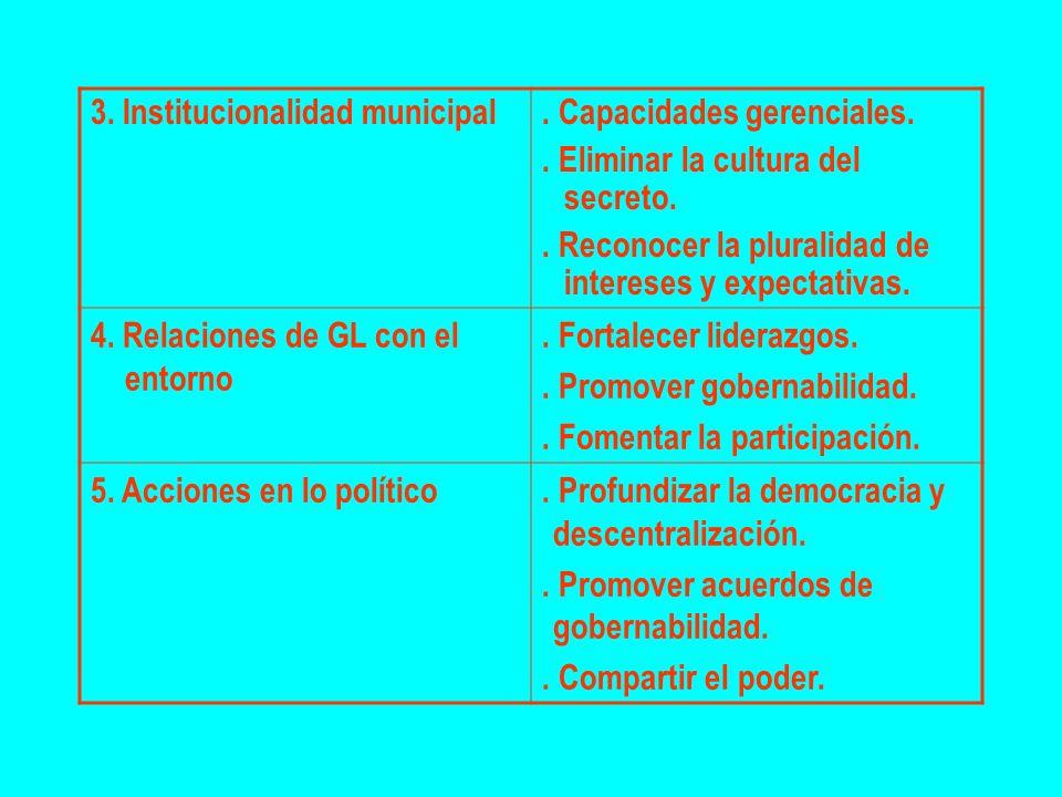 3. Institucionalidad municipal