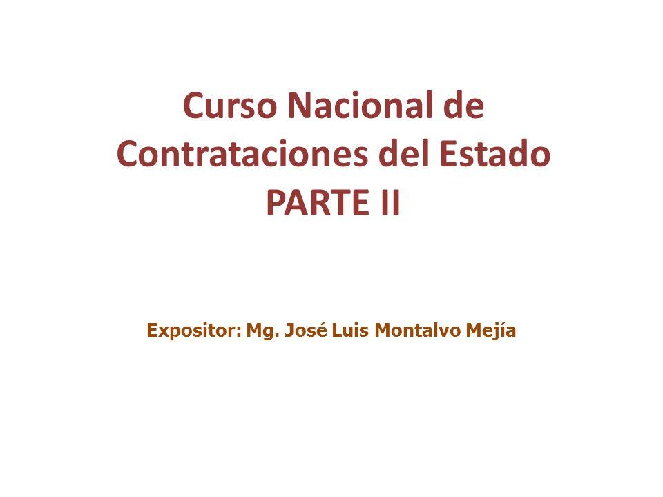 Curso Nacional de Contrataciones del Estado PARTE II