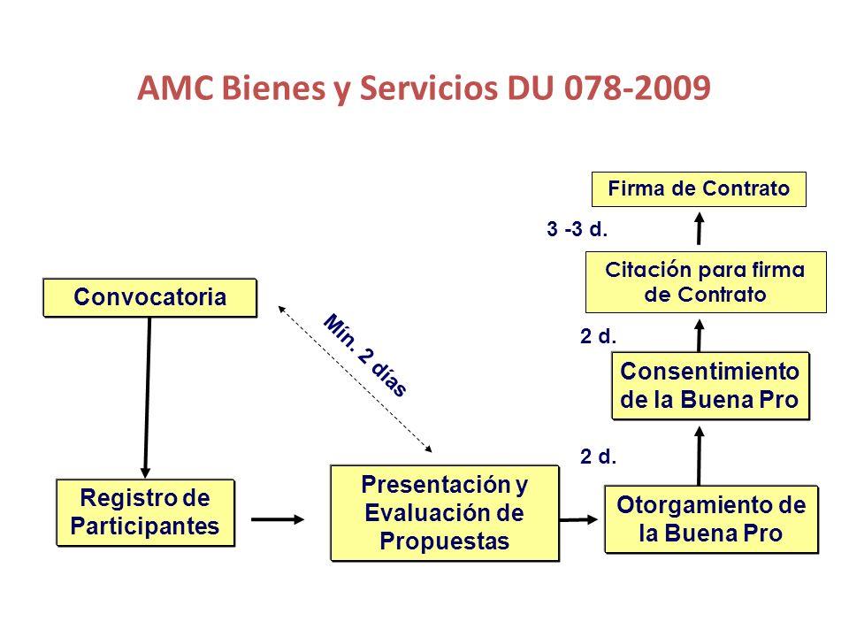 AMC Bienes y Servicios DU 078-2009