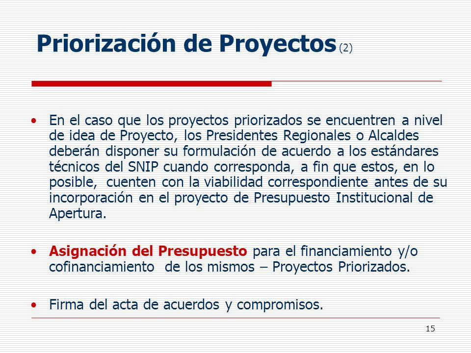 Priorización de Proyectos (2)