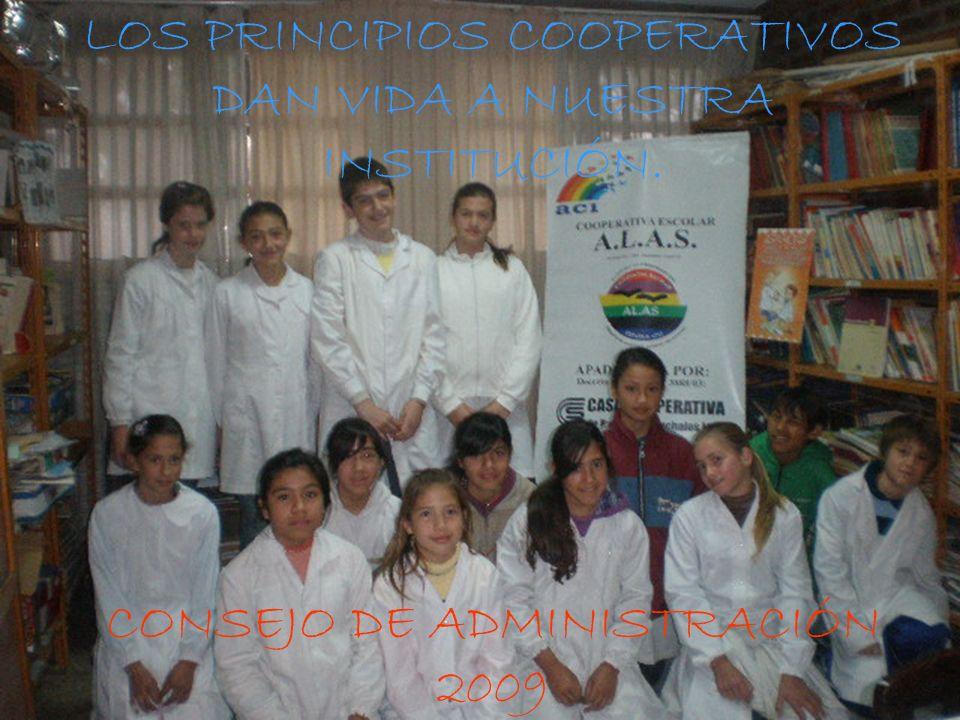 LOS PRINCIPIOS COOPERATIVOS DAN VIDA A NUESTRA INSTITUCIÓN.
