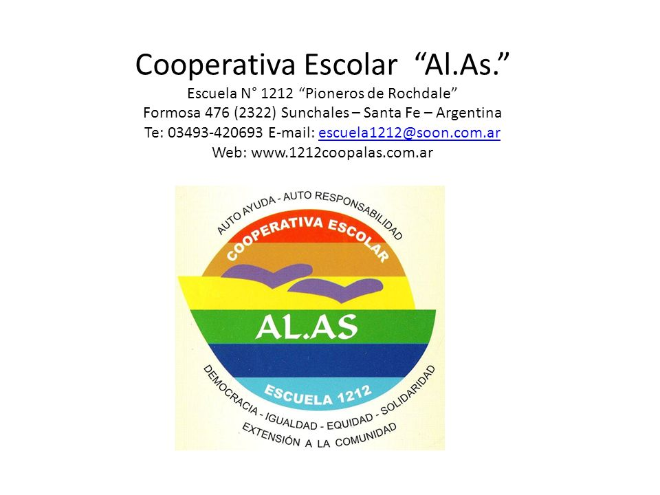Cooperativa Escolar Al. As