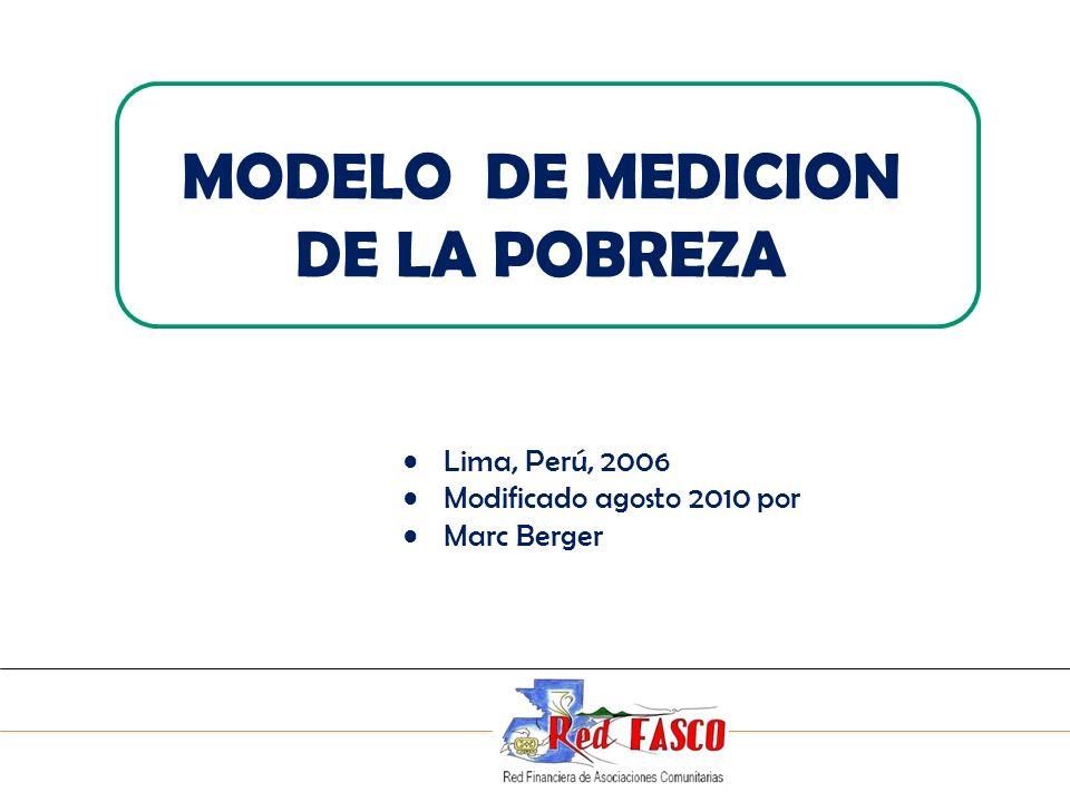 MODELO DE MEDICION DE LA POBREZA