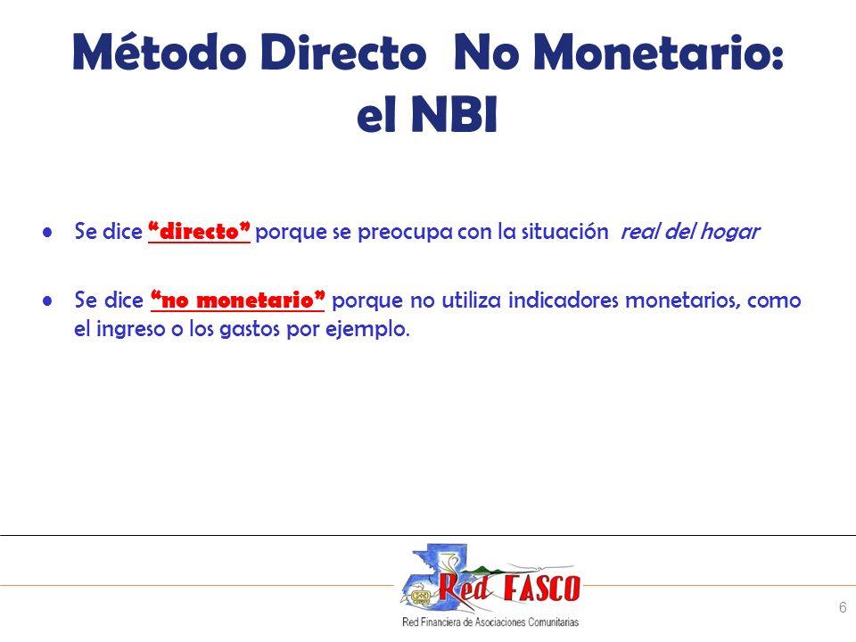 Método Directo No Monetario: el NBI