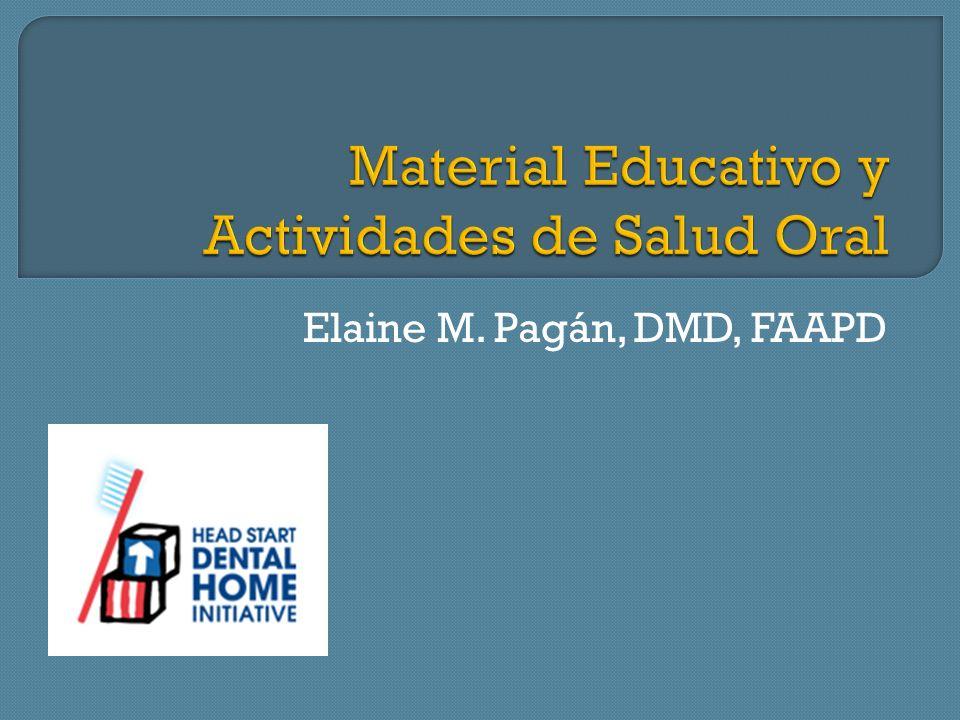Material Educativo y Actividades de Salud Oral