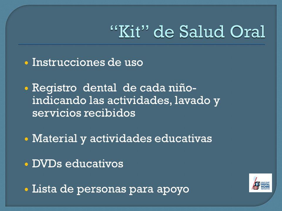 Kit de Salud Oral Instrucciones de uso