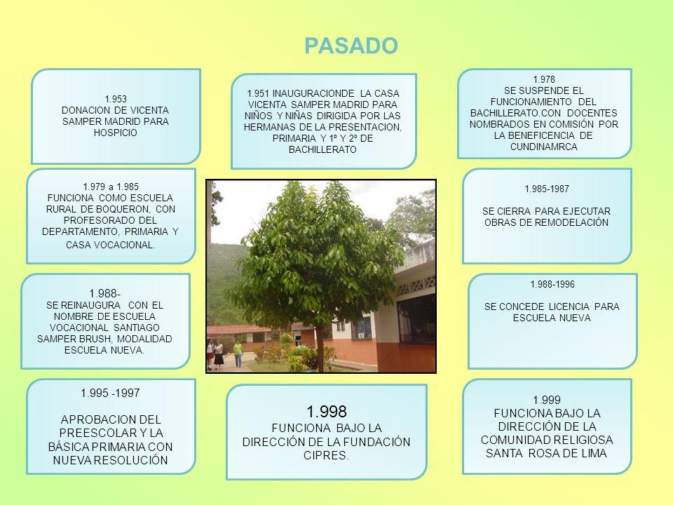 PASADO1.953. DONACION DE VICENTA SAMPER MADRID PARA HOSPICIO. 1.978.