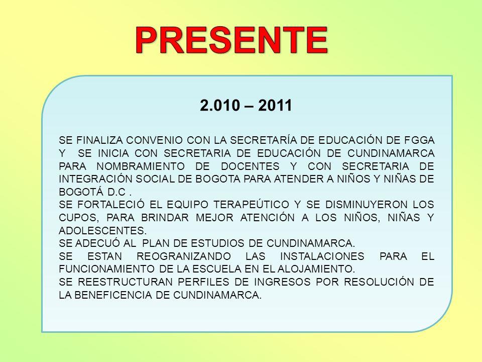 PRESENTE 2.010 – 2011.