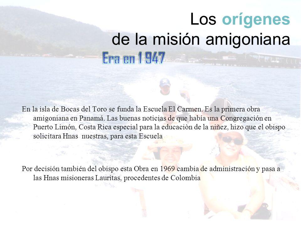 Los orígenes de la misión amigoniana