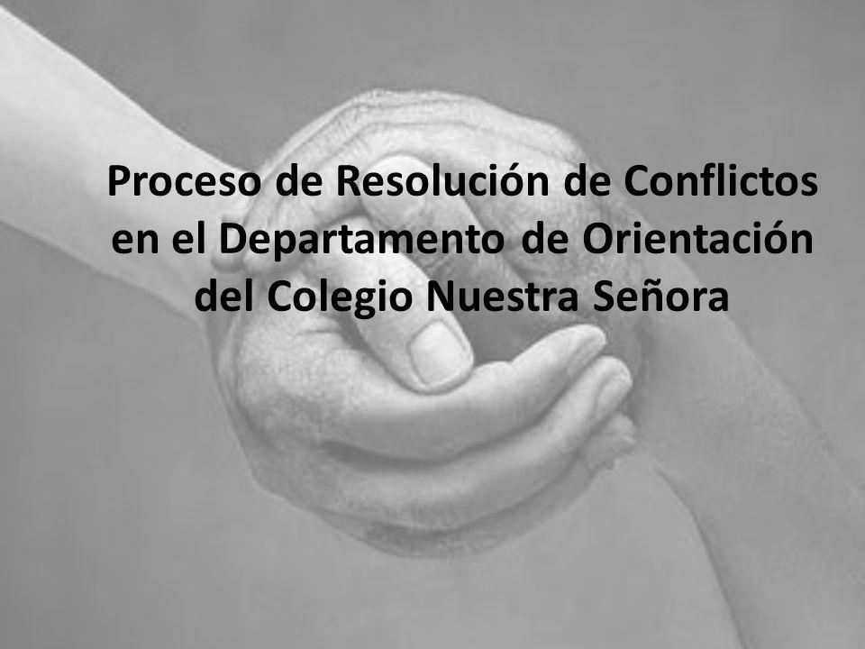 Proceso de Resolución de Conflictos en el Departamento de Orientación del Colegio Nuestra Señora