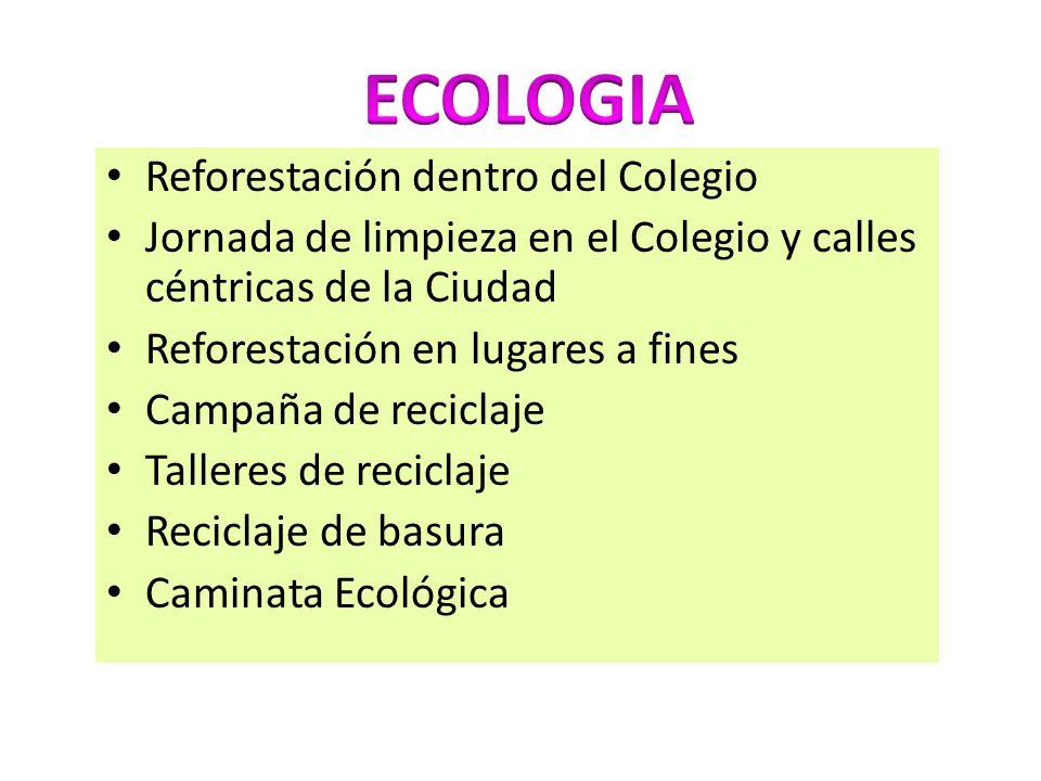 ECOLOGIA Reforestación dentro del Colegio
