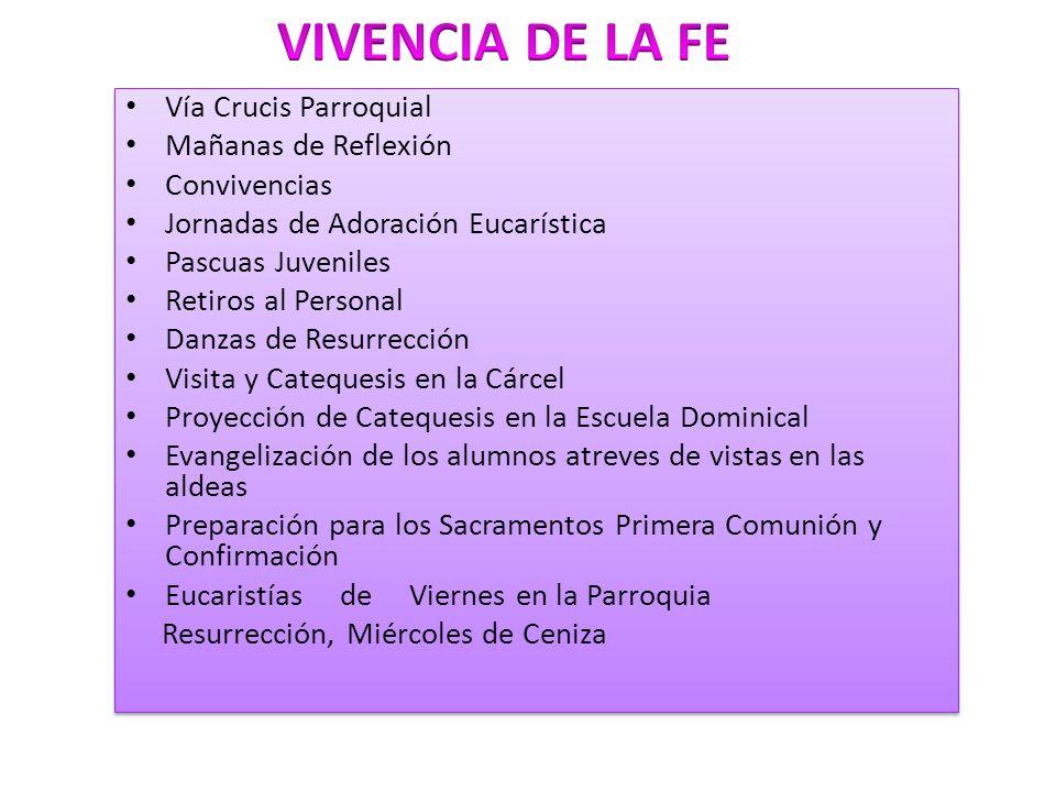 VIVENCIA DE LA FE Vía Crucis Parroquial Mañanas de Reflexión