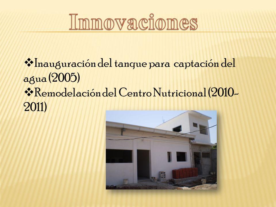 Innovaciones Inauguración del tanque para captación del agua (2005)