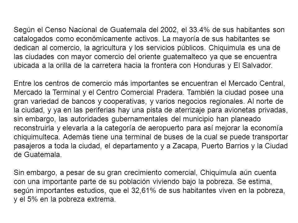 Según el Censo Nacional de Guatemala del 2002, el 33