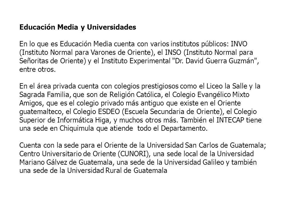 Educación Media y Universidades